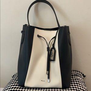 Lauren RL Color Block Bucket Bag